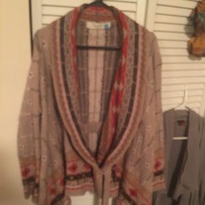 Sparrow Sweater sz-L  w/ tie super cozy SUPA Cute
