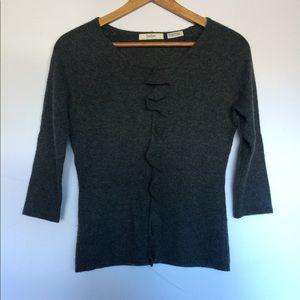 Neiman Marcus single Ruffle sweater