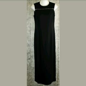 Liz Claiborne Black Sleeveless Sheath Dress Sz 8P