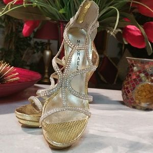 Gorgeous Michael Gold Rhinestone Heels-7