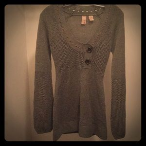 Sz M Boho Scoop Neck Sweater - BKE