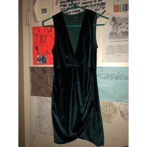 Hunter Green Velvet Dress