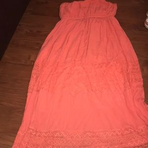 Torrid size three long strapless dress