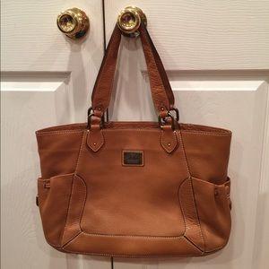 Cole Haan Leather Cognac color tote