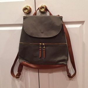 Steve Madden nylon backpack with faux leather trim