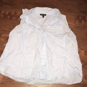 Sleeveless hidden button blouse
