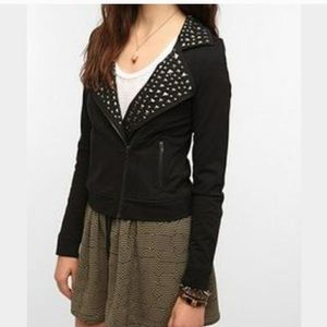 Sparkle & Fade Studded Moto Jacket *LIKE NEW*