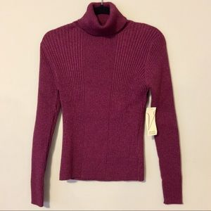 Valerie Stevens Ribbed Turtleneck