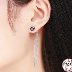 Jewelry - 100% 925 Silver Vintage Tassels Drop 2in1 Earrings