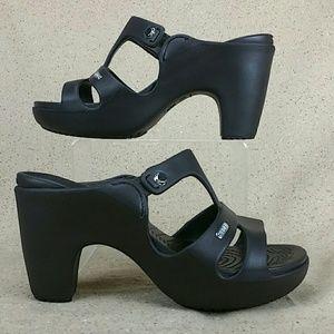 67f7899e6 Crocs Shoes - Crocs Cyprus V Heel Slip On Shoes W 8