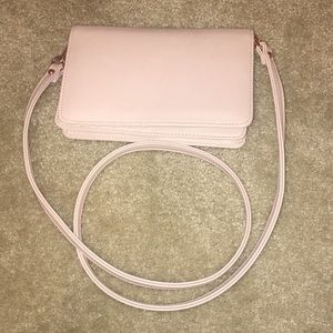 Rose gold and pink cross body