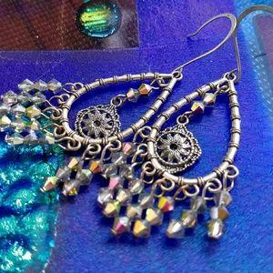 Jewelry - Gorgeous Swarovski Crystal Chandelier Earrings