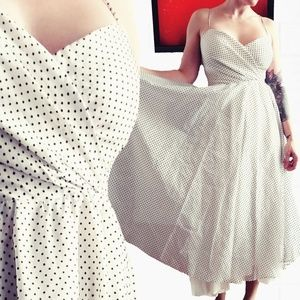 Fully Lined Pinup Style Polka Dot Dress