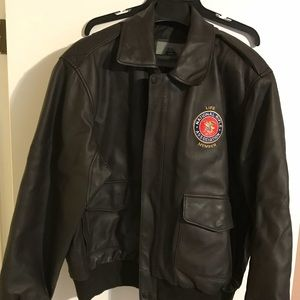 NRA Lifetime Member Leather Coat