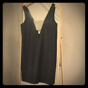 Brand new black Club Monaco dress with pearls