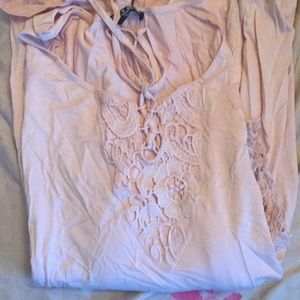 Tunic top rose color