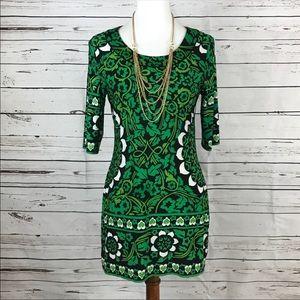 INC green mini dress small