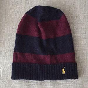 NEW Polo Ralph Lauren Will Striped Beanie Hat