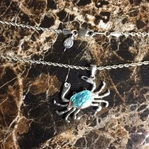 Guy Harvey Blue Crab Necklace