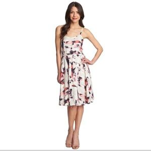 1. State tropical graphic pattern cut out dress