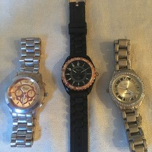Package of 3 fashion watches
