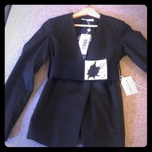 NWT! MM6 Maison Margiela cotton blazer w/belt!