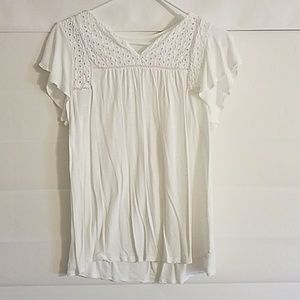 Merona White Eyelet T Shirt New Medium
