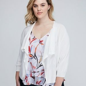 New Lane Bryant drape shrug white 4x 26 28