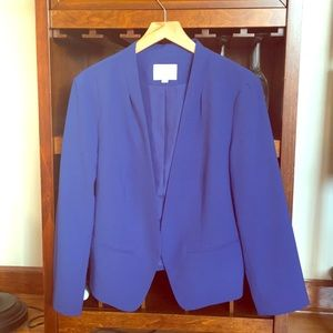 LOFT cobalt royal blue open blazer jacket