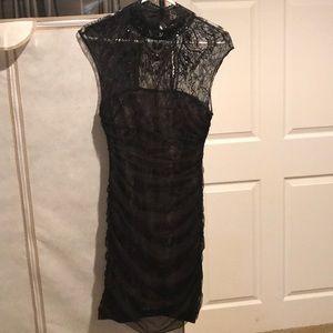 BEBE beaded, strapless dress Sz S