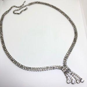 """🆕28"""" Vintage Double-Strand Rhinestone Necklace"""