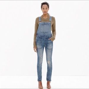 Madewell skinny overalls in Adrian wash-XS