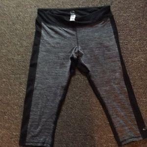 Champion black and gray, Capri workout pants Large