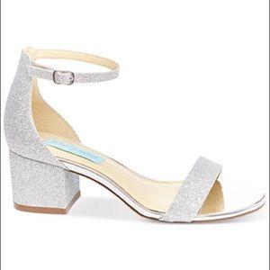 Blue by Betsey Johnson Silver Block Miri Sandals