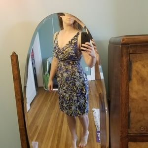 Anthropologie patterned, watercolor dress