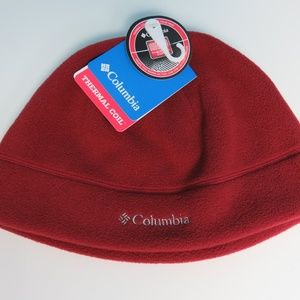 Columbia Beanie Fleece Hat Red Adult L/XL Unisex