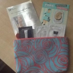 High end primers a foundations ,cosmetic bag