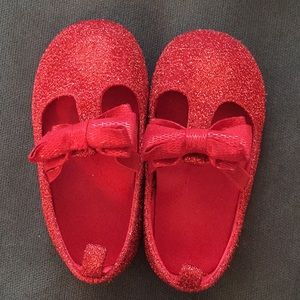 Red holiday shoes