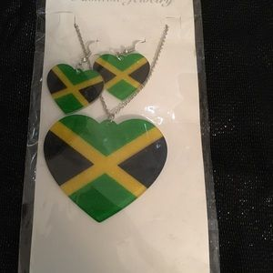 🇯🇲 Jamaican Pride Jewelry Set🖤💚