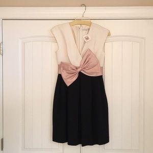 Trina Turk Pirroette Bow Black Dress Size 4