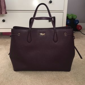 Kate Spade Laurel Way tote bag plum