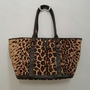 J. Crew Leopard Print Quilted Shoulder Bag