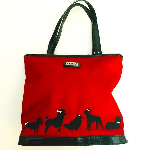 arcos los bolsa con de perros rojos los Guinness del perro bolsos de asas La de de caniche Lulu cTRwqR8dBF