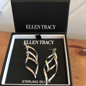 Brand New In Box ELLEN TRACY tri-color Earrings