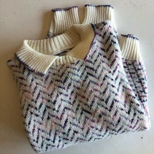 Vintage Alfred Dunner 70's chevron sweater