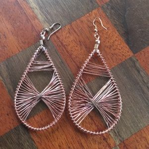 Hand made copper wire earrings