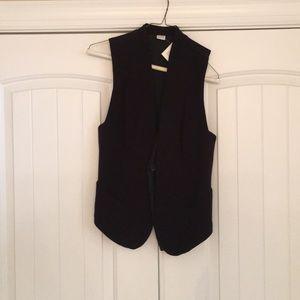Three Dots Tuxedo Vest Black X-Small