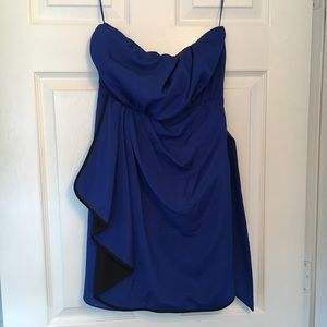 Strapless Royal Blue Express Party Dress