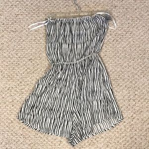 NWOT Stiped Tube Top Romper