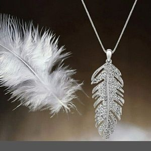 Bohemian Love Feather Wing Necklace
